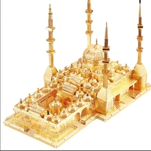 DIY 3D Metal Puzzle Model Heart of Chechnya mosque assembly building model For Children/Adult cubos magicos puzzles(China (Mainland))