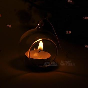 8cm 10PCS/LOT Promotion Flat Bottom Decorative Hanging Glass Balls Hanging Glass Candle Holder for Wedding