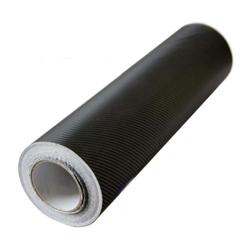 30m*1.27m 3D carbon fiber car vinyl wrap material car stickers full body self adhesive vinyl rolls black car styling(China (Mainland))