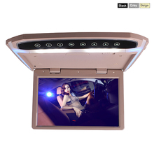 Car Roof Mounted Overhead Flip Down MP4 MP5 Video Player 10 12 Inch LED Monitor with HDMI SD AV InPut 16GB Card and Reader(China (Mainland))