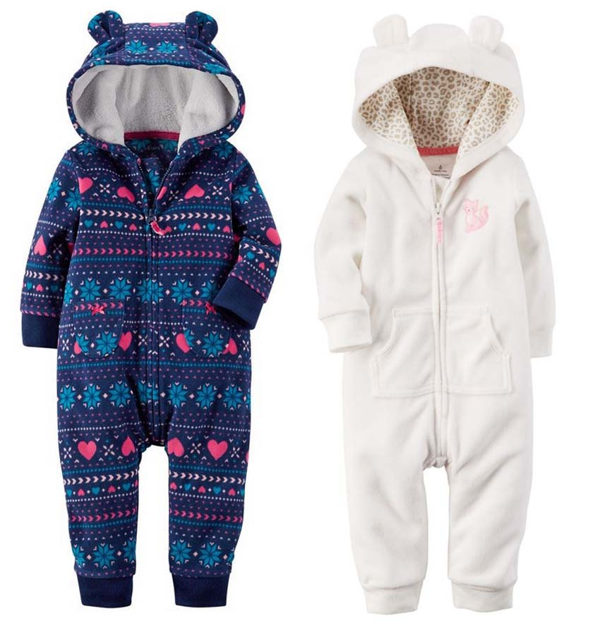 Cute Newborn Baby Boy Girl Clothes Kids Autumn Clothing Girls Rompers with Has Baby Rompers Hooded Winter One Piece(China (Mainland))