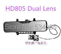 Car DVR Dual HD805/806 Bluetooth Rearview Mirror viedo camera car recorder with night Vision 2.7 INCH TFT car Dvr Black box(China (Mainland))