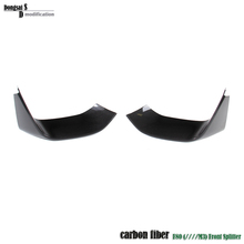 3D Style car styling carbon fiber front bumper lip spoiler chin splitter for BMW F80 M3 F82 F83 M4 front lower bumper(China (Mainland))