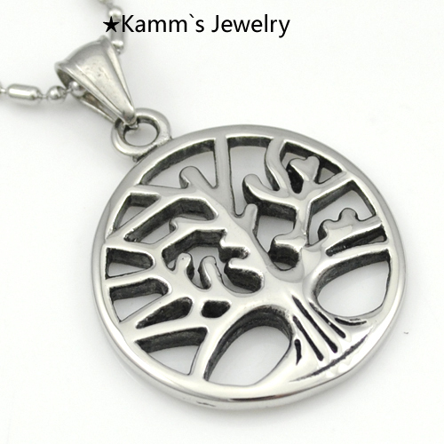 tree of life pendant Silver 316 Stainless Steel Mens Pendants necklace motorcycle colgantes allah ankh hedgehog party KP1066(China (Mainland))