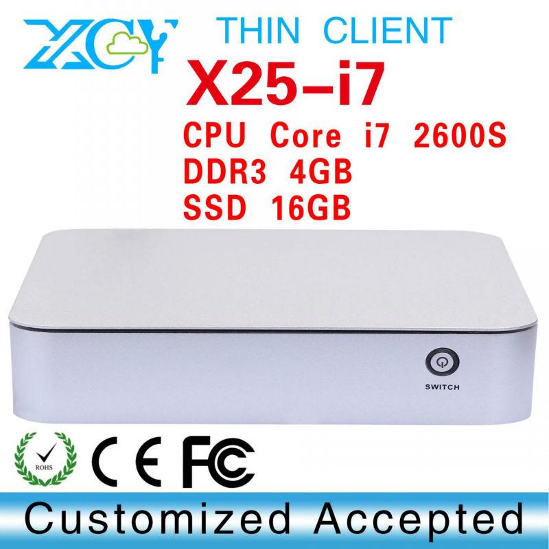 Hot selling core i7 2600S 4gb ram 16gb ssd mini pc thin client laptop computer linux server can run Linux/Ubuntu/window 7(China (Mainland))