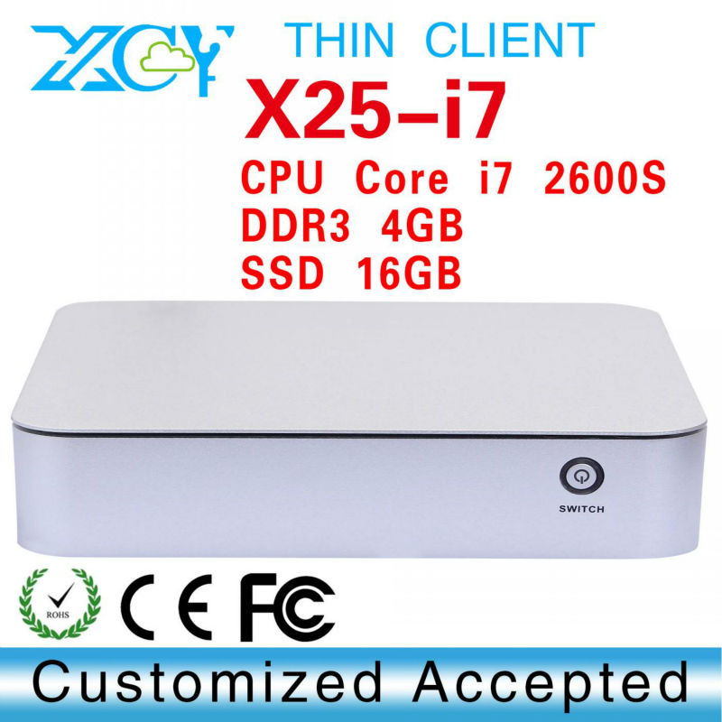Hot selling core i7 2600S 4gb ram 16gb ssd mini pc thin client laptop computer linux server can run Linux/Ubuntu/window 7(China (Mainland))