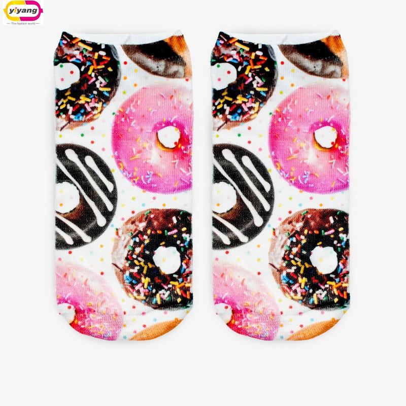 Fashion 3D Digital Printed Unisex Cute Low Cut Ankle Socks women socks Calcetines Women Casual Harajuku Meias Mujer SocksОдежда и ак�е��уары<br><br><br>Aliexpress
