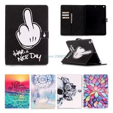 Smart Case For Apple iPad Mini 1 2 3 Painting PU Leather Flip Stand with Card Holder For iPad mini Wallet w/Screen Flim(China (Mainland))