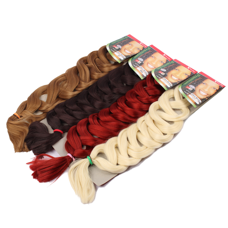 82 inch 165g Synthetic Hair Extension Ultra Brazili Braid Xpression Blonde African Hair Piece WX150D(China (Mainland))