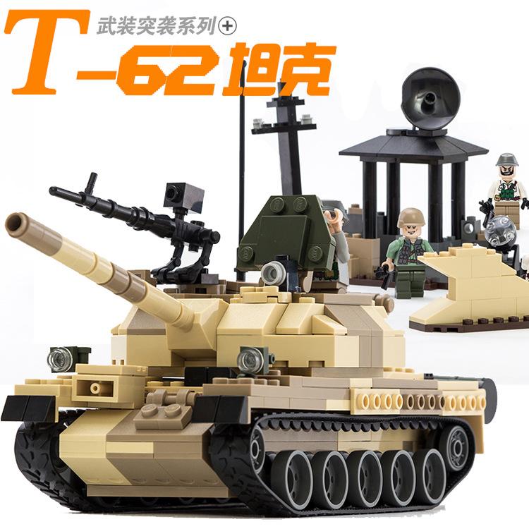 POP Modern War Military Weapon Tank Wars German WW2 T-62 Tank Model Building Block Brick Educational Toy Compatible Legoelied<br><br>Aliexpress