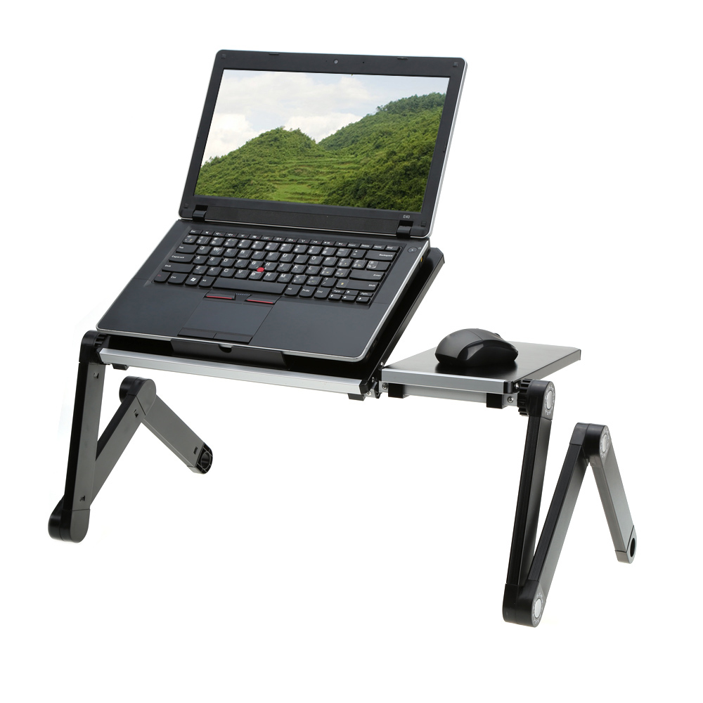 Light Weight Adjustable Portable Laptop Folding Table Desk Tray Stand with Splitting Surface for 17 inch Laptop Notebook Tablet(China (Mainland))