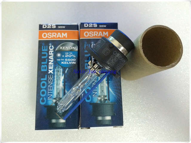 100% Genuine!!!Osram D2S 12V 35W 66240CBI Cool Blue Intense Xenon Hid Bulbs 5500K Headlight Original Car Light Source Auto Lamps(China (Mainland))