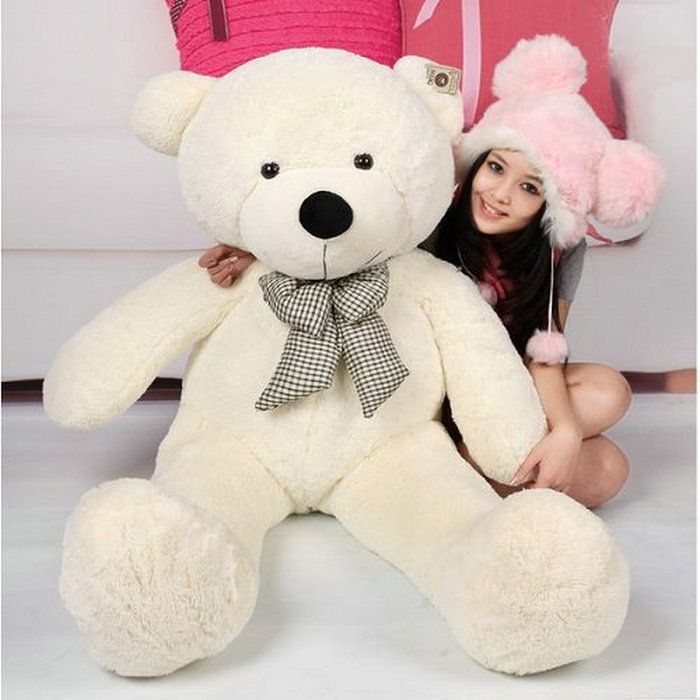 100CM Giant Teddy Bear Giant Plush Stuffed Toys Doll /Lovers/Valentines Gifts Birthday Gift 96339-96342(China (Mainland))