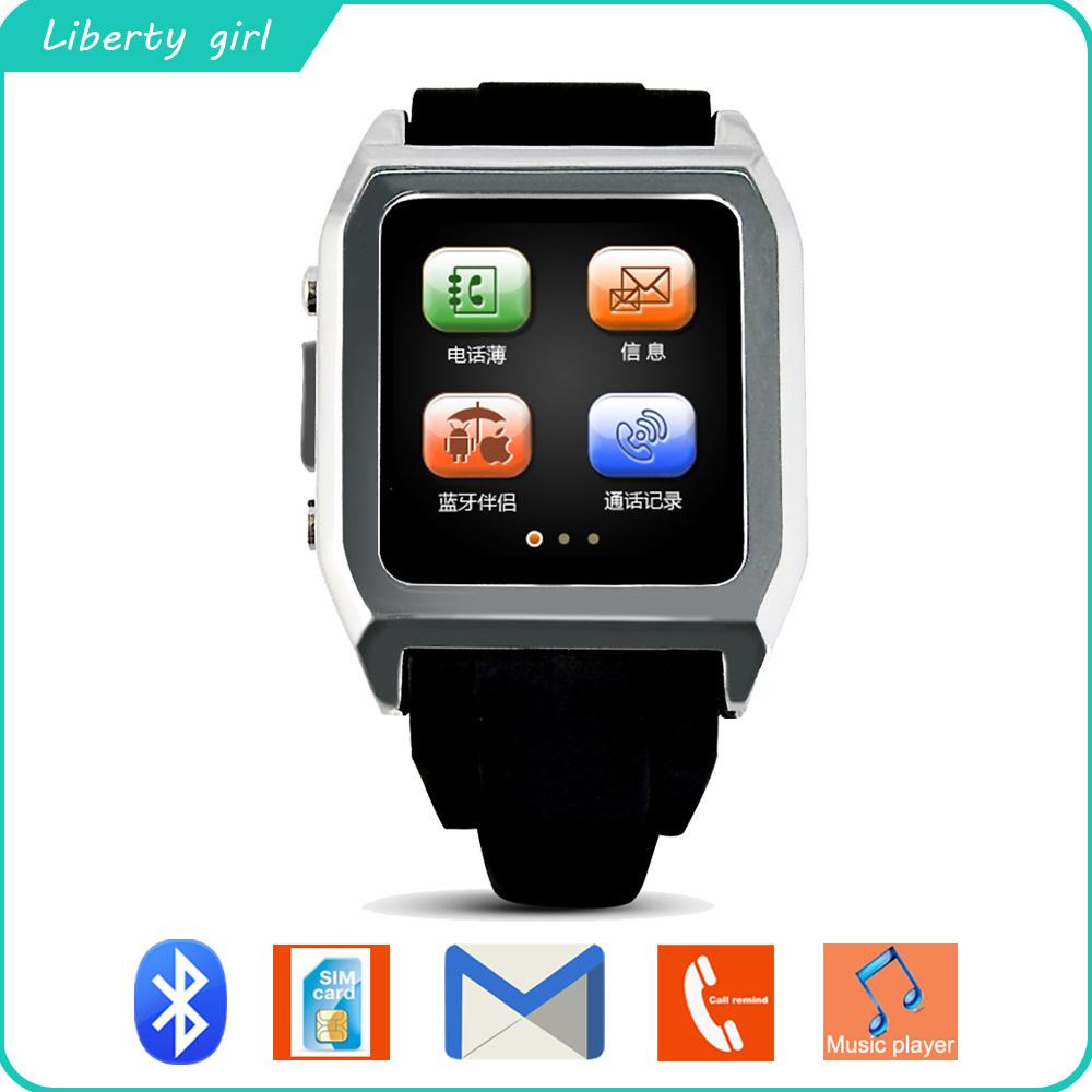 Hot sell!!! Bluetooth Smart Pebble Watch Smartwatch Unisex Smart Watch phone Fashion Sport Wristwatches