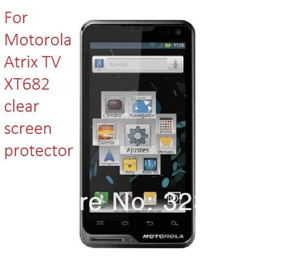 For Motorola Atrix TV XT682 LCD Screen protector premium screen film kits 500pcs/lot free shipping(China (Mainland))