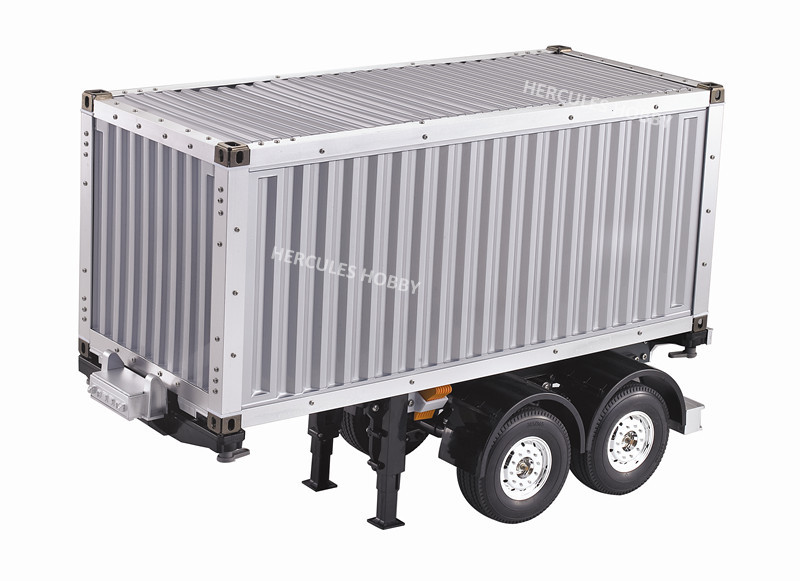 [HERCULES HOBBY] TAMIYA Tractor Truck Trailer 1/14 Scale 2 Axle 20 Foot Container Semi-Trailer Made China - HERCULES HOBBY store
