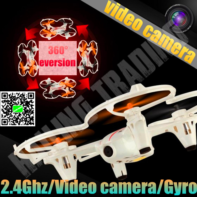 Video Camera Quadcopter with 2.4Ghz/4CH,RC Airplan,360 Degree Eversion,Baby toy,Free shipping.(China (Mainland))