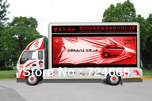 Light weight P10 outdoor mobile truck LED Display with CE, ROHS certification(China (Mainland))