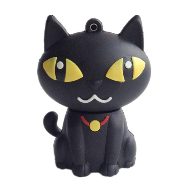 100% real capacity pen drive cartoon black cat pendriver 8gb 16gb 32gb usb flash drive memory stick pendrive cartoon mini gift(China (Mainland))