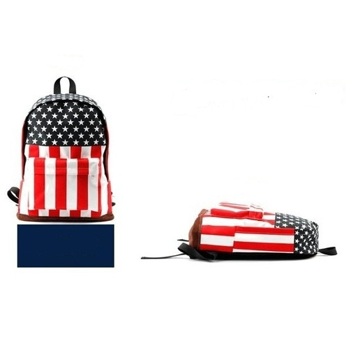 Hot Canvas US USA Flag Punk BackPack Shoulder GYM Bag Duffle School - China's largest production plant of bags store