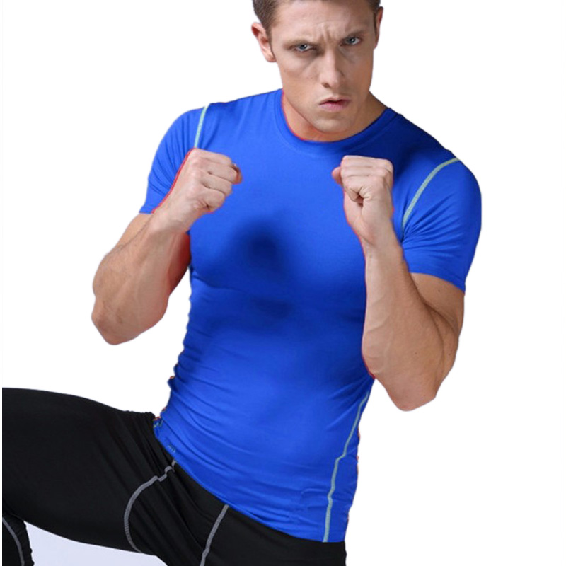 Fitness Mens Basketball Jerseys Quick Dry Compression Gym Training Bodybuilding Football Pro T Shirts Men Sportswear(China (Mainland))