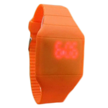 Fantastic wholesale Fashion Classical Fashion Colorful The Jelly Ultra Thin LED Silicone Sport Wrist Watch
