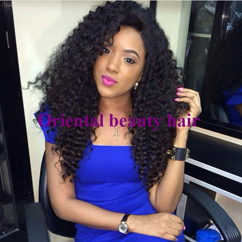 Cheap Sale Fiber Kinky Curly Wigs Synthetic Lace Front Boncy Glueless Heat Resistant Hair Fast Shipping - Oriental Beauty store