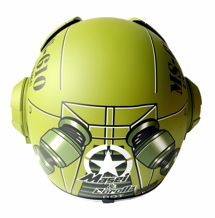 Masei 610 Star Machine DOT Helmet Ironman Iron Man Atomic