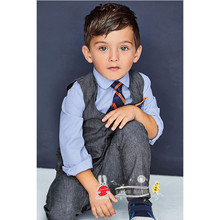 boys tie shirt +pants+vest 4 pieces sets fall fashion baby designers clothes clothing set boys 2015 autumn formal wear gentleman(China (Mainland))