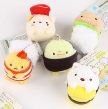 retail Japan Bio corner litter animal August Sushi Plush cartoon small pendant Charm 5designs