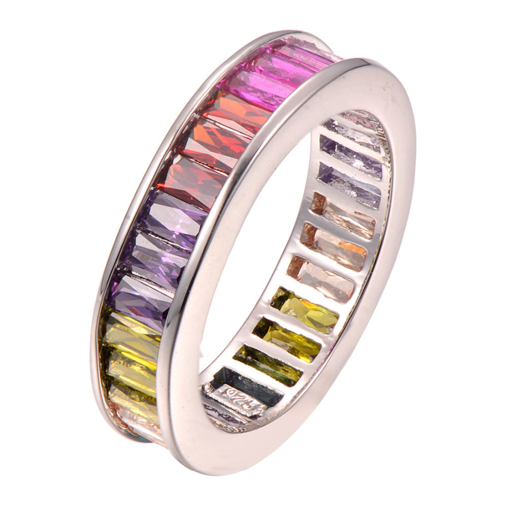 wholesale Amethyst Garnet Citrine 925 Sterling silver Ring Size 5 6 7 8 9 10 11 12 F1256(China (Mainland))
