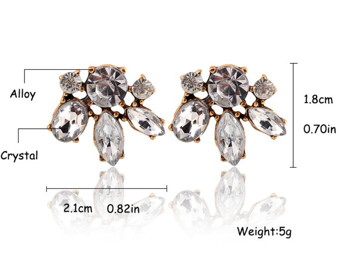 Hot sell Snowflake Alloy Crystal Zircon Water Droplet earrings Bohemia CZ diamond Jewelry sapphire Drop Dangle Earrings brincos(China (Mainland))