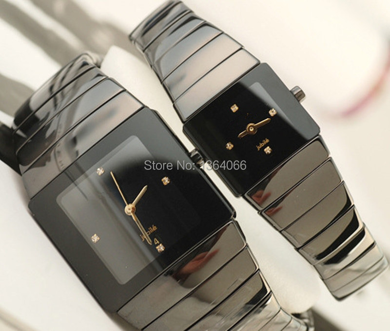 2015 new fashion black & gold ceramic watches for ladies watch men white men brand quartz watches men free shipping(China (Mainland))