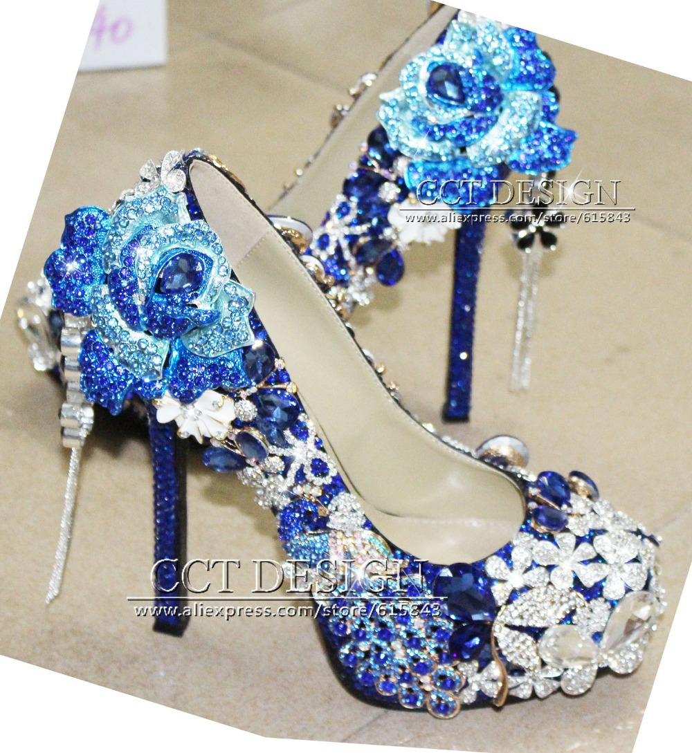 Royal Blue High Heels Pumps - Is Heel