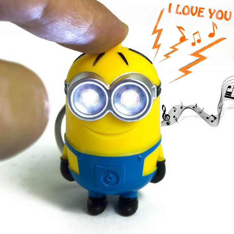 Novelty LED toys talking minions press button say I love you gift for lovers Funny Toys(China (Mainland))