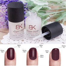 15ML Magic Super Matte Transfiguration Gel Nail Polish Top Coat Frosted Surface Oil(China (Mainland))