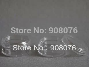 Best selling! 3g plastic empty clear jar nail art tool cosmetics container bubble box Refillable Bottles - KingSun Fashion Shop store