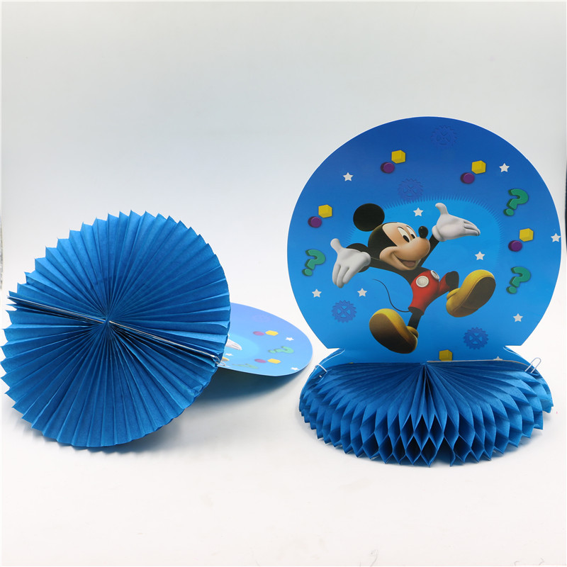 Cartoon Mickey mouse birthday honeycomb table centerpieces supplies boys happy birthday decorations Festive Party Supplies(China (Mainland))