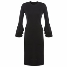 Buy Elegant Sexy Spring Autumn Winter Long Sleeve Evening Party Women Long Midi Dress Tunic Female Lady Black Clothing Clothes 2017 for $12.25 in AliExpress store