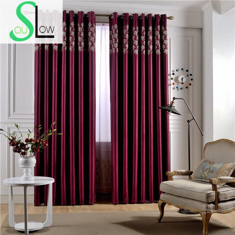 Comparar Preços de Red Floral Curtains  Compras online  Compra Preço Baixo