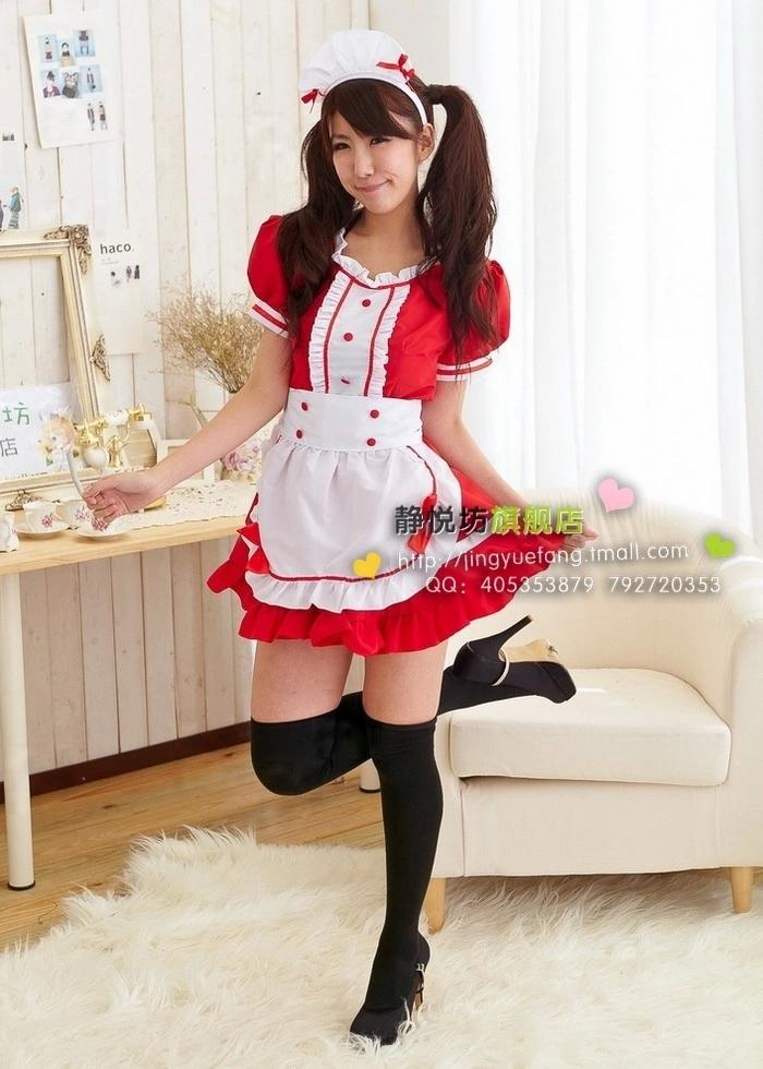 Cosplay Sexy Maid Apron Dress Meidofuku French Maid Performance Wear Lolita Skirt Evening Dress Maid Costume(China (Mainland))