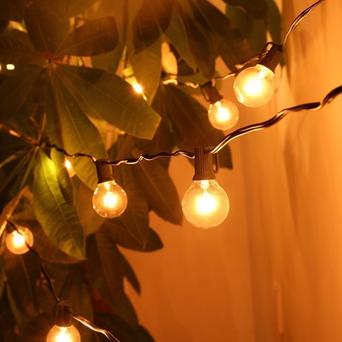 Wholesale Patio Lights G40 Globe Party Christmas String Light,Warm White 25clear Vintage Bulbs ...