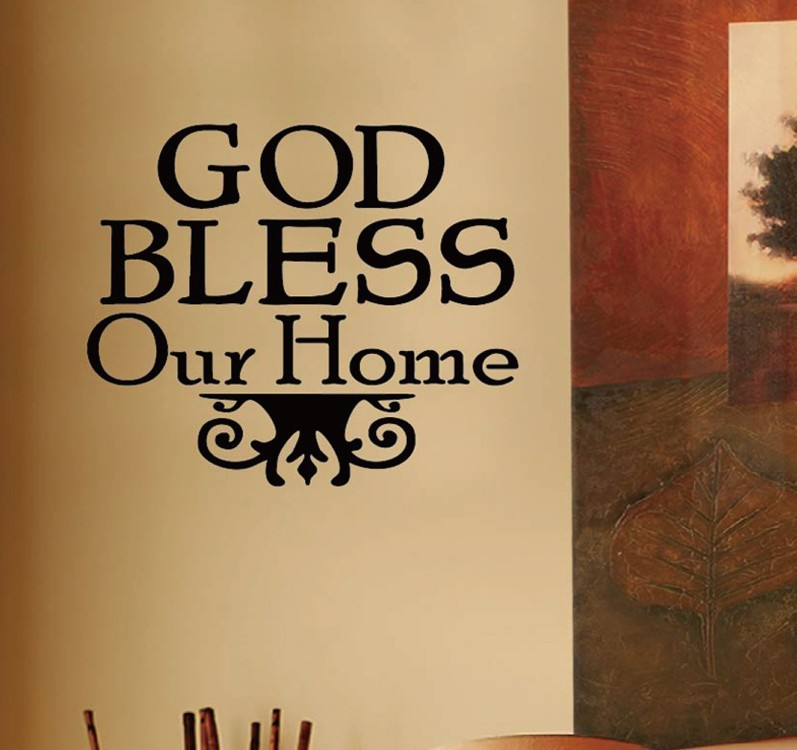 God bless our home bible religious quote vinyl wall for Our home decor