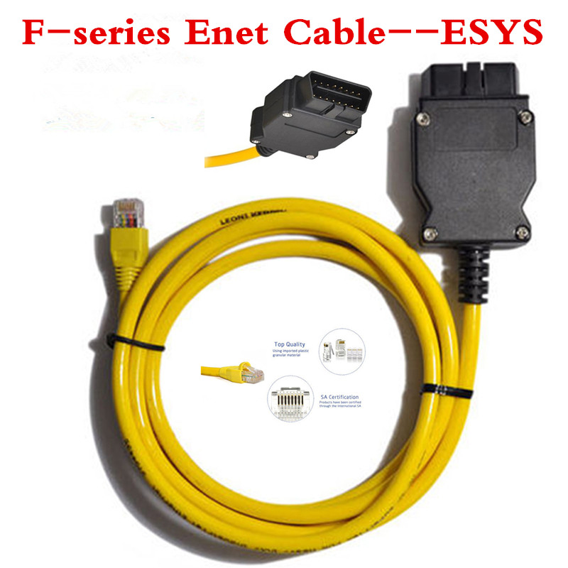 2016 Hot car diagnostic connector ESYS v50.3 data cable 3.23.4 For bmwENET Ethernet to OBD 2 Interface Data E-SYS ICOM Coding(China (Mainland))