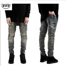 Buy Man Si Tun2017 Mens Skinny Biker Jeans Men Hi-Street Ripped Rider Denim Jeans Motorcycle Runway Slim Fit Washed Moto Denim Pants for $18.89 in AliExpress store