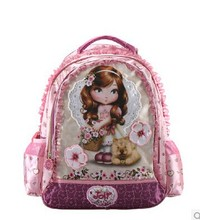Barbie Children School Bag  Cute Princess  Backpack  Girls Wheeled Bag For 1-3 Grades(China (Mainland))