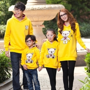 Family fashion 2013 spring and autumn family set family pack mother and child clothes for father and son sweatshirt outerwear