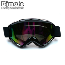 MG-015A-BK Black Color Reflective Lens Flexible Adult Motorcycle Protective Gears Motocross MX Goggles Glasses