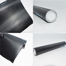 300cmX55cm 3D carbon fiber vinyl film/ carbon fibre sticker black/white color option FREESHIPPING car sticker 3D carbon wrap(China (Mainland))