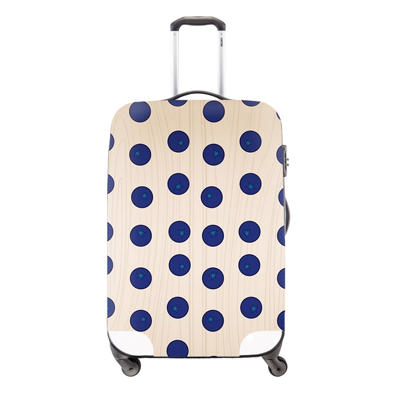 Big Blue Dots Luggage Protective Covers Elastic Waterproof Trolley Case Covers Girls Travel Accessories Apply For 18-30Inch Case(China (Mainland))